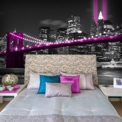 fototapeta z różowym mostem