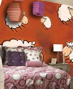 Tapeta z latającymi owieczkami