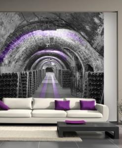 Tapeta z winiarnią