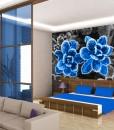 Foto-tapeta niebieskie kwiaty