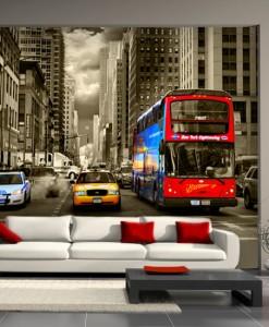 Tapeta kolorowy transport miejski