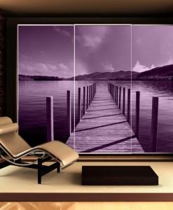 Foto-tapeta z fioletowym pomostem