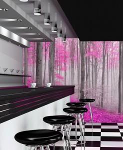 Fototapeta różowy las