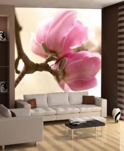 Foto-tapeta różowe magnolie