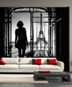 Fototapeta dziewczyna w Paryżu