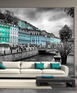 Foto-tapeta promenada nad rzeką