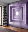 Tapeta z fioletowym tunelem