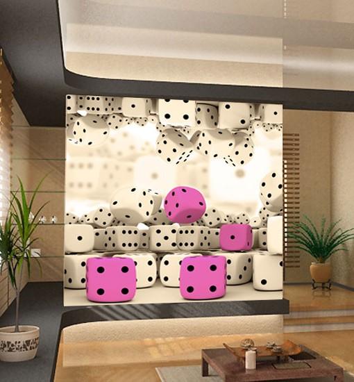 Foto-tapeta różowe kości do gry