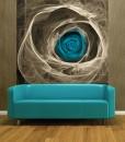 Tapeta abstrakcyjna niebieska róża