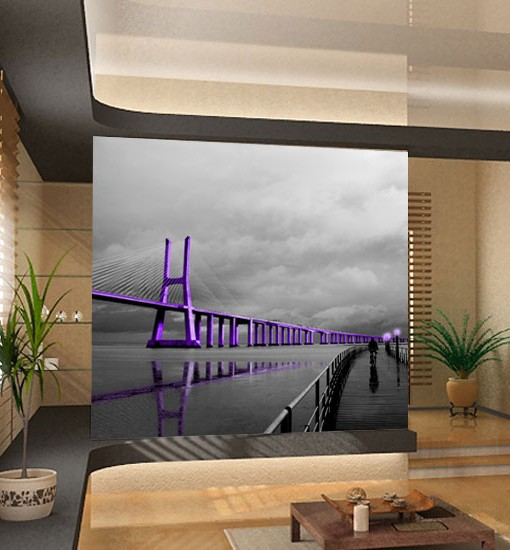 Fototapeta z fioletowym mostem