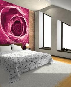 Tapeta z różową różą