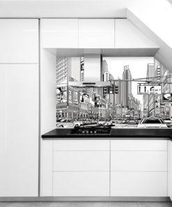 fototapeta komiksowe miasto kuchnia