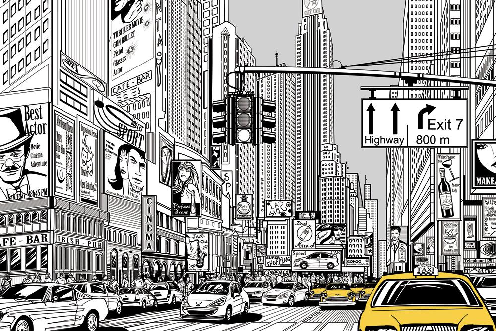 fototapeta szkic miasta