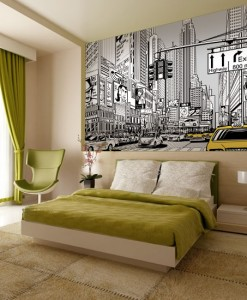 Foto-tapeta rysunkowa metropolia