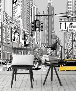 fototapeta miasto z komiksu