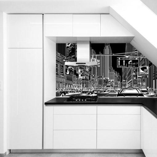 czarno-biała fototapeta z nowym jorkiem
