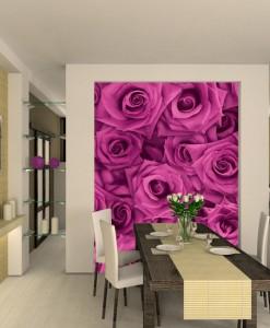 Foto-tapeta z różowymi różyczki