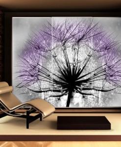 Fototapeta z fioletowym dmuchawcem