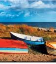 Foto-tapeta łodzie na wydmach