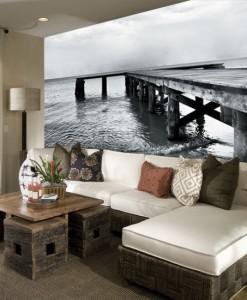 Foto-tapeta drewniany pomost