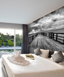 Fototapeta drewniane molo i morze