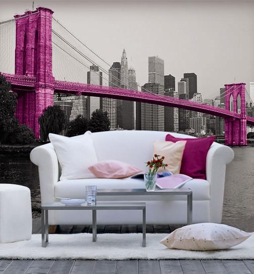 Foto-tapeta różowy most w Nowym Jorku
