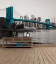 Tapeta most z panoramą miasta w tle