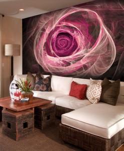 Foto-tapeta z dymną różą
