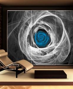Fototapeta z niebieską różą