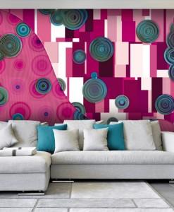 Foto-tapetaz różową abstrakcją