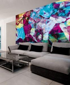 Tapeta z kolorową abstrakcją