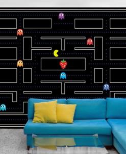 Fototapeta Pac-Man czarna plansza