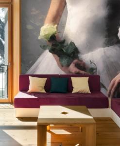 Foto-tapeta baletnica z różą