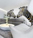 Fototapeta dwie zebry