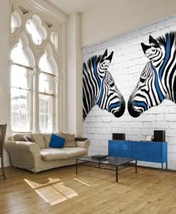 Fototapeta zebry i cegły
