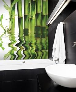 Fototapeta z zielonymi bambusami