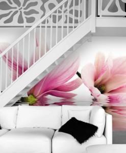 Foto-tapeta kwiaty magnolii na wodzie
