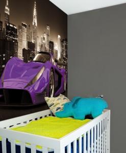 Tapeta z fioletowym samochodem