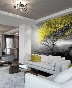 Fototapeta żółte drzewo