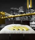 Tapeta żółty most Brookliński