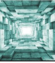 Fototapeta betonowy turkusowy tunel