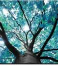 Foto-tapeta z turkusowym drzewem