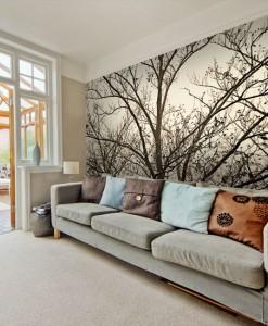 Fototapeta z koronami drzew