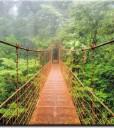 Fototapeta z wiszącym mostem