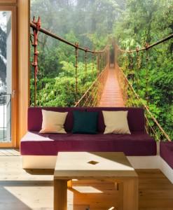 Tapeta z mostem linowym