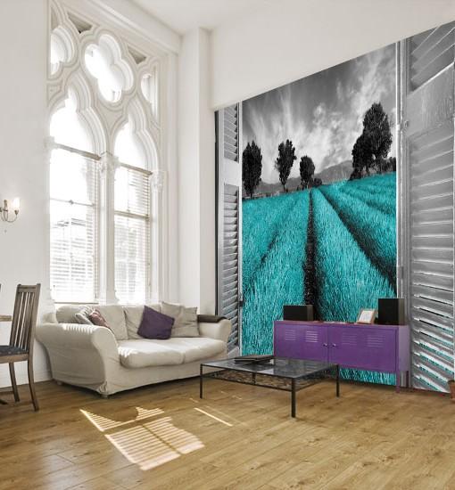 Foto-tapeta z krajobrazem Prowansji