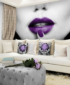 Foto-tapeta fioletowe usta