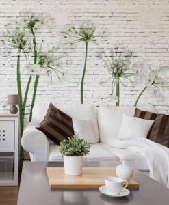 Fototapeta z białymi kwiatuszkami