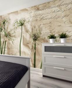 Foto-tapeta z białymi kwiatkami