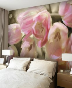 Foto-tapeta różowy bukiet